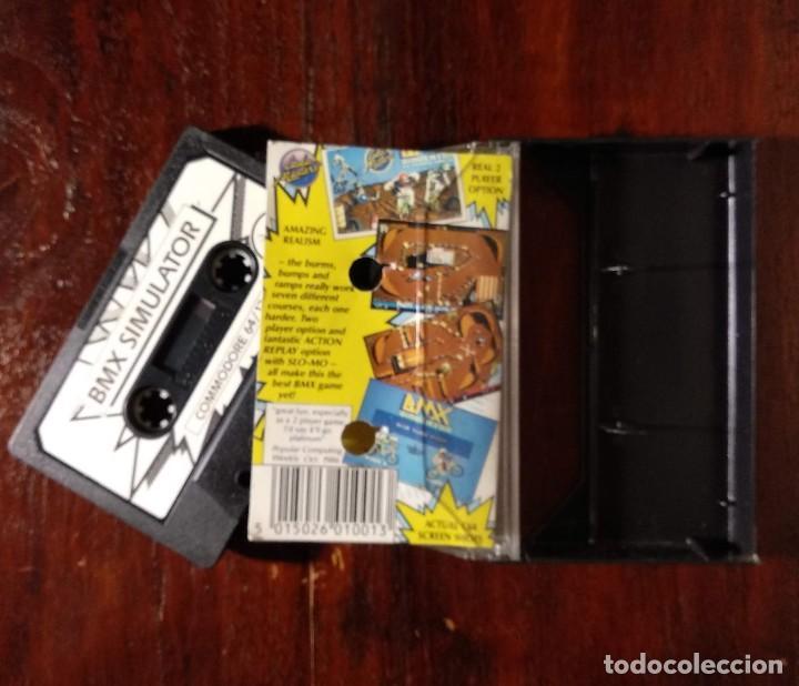 Videojuegos y Consolas: BMX SIMULATOR CINTA CASSETTE JUEGO COMMODORE 64 - CODE MASTER 1986 - Foto 2 - 123393511