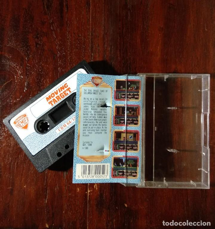 Videojuegos y Consolas: MOVING TARGET CINTA CASSETTE JUEGO COMMODORE 64 - PLAYERS PREMIER 1989 - Foto 2 - 123393667