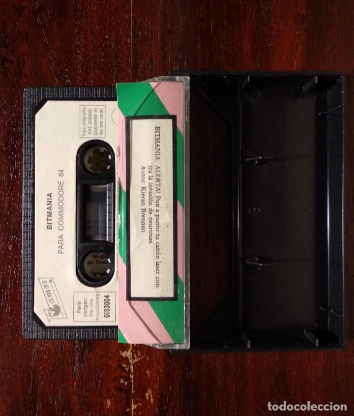 Videojuegos y Consolas: BITMANIA CINTA CASSETTE JUEGO COMMODORE 64 - GAMES 1985 - Foto 2 - 123393799