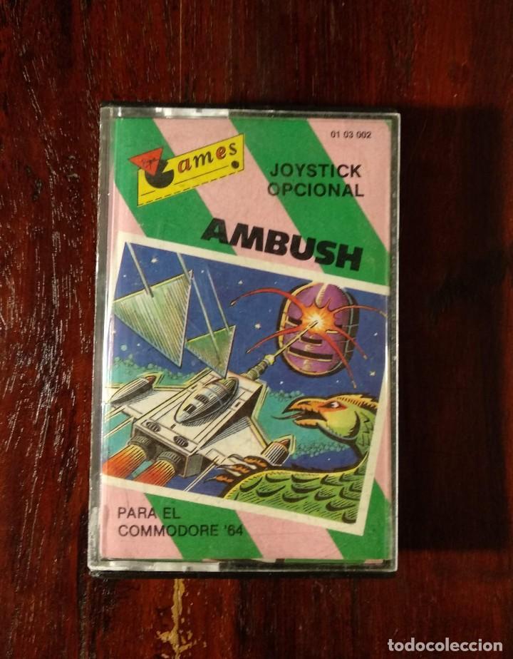 AMBUSH CINTA CASSETTE JUEGO COMMODORE 64 - GAMES 1984 (Juguetes - Videojuegos y Consolas - Commodore)