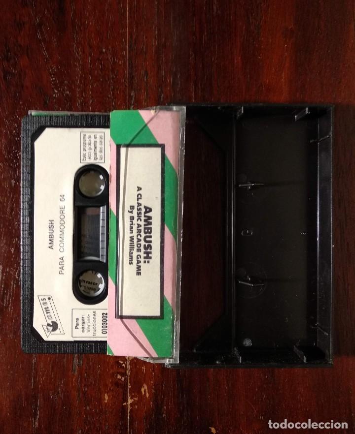 Videojuegos y Consolas: AMBUSH CINTA CASSETTE JUEGO COMMODORE 64 - GAMES 1984 - Foto 2 - 123393891