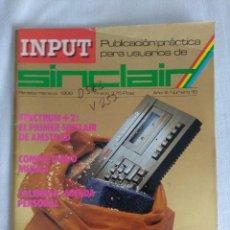 Videojuegos y Consolas: REVISTA INPUT SINCLAIR Nº15.. Lote 128348971