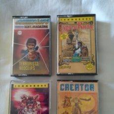 Videojuegos y Consolas: LOTE DE 4 JUEGOS COMMODORE AÑOS 80.. Lote 128470510