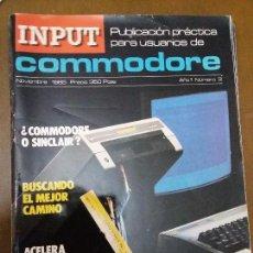 Videojuegos y Consolas: 11-00237 COMMODORE INPUT Nº3. Lote 128828579