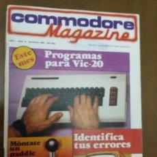 Videojuegos y Consolas: 11-00242 COMMODORE MAGAZINE AÑO 1- Nº 9 - NOVIEMBRE 1984. Lote 128829115