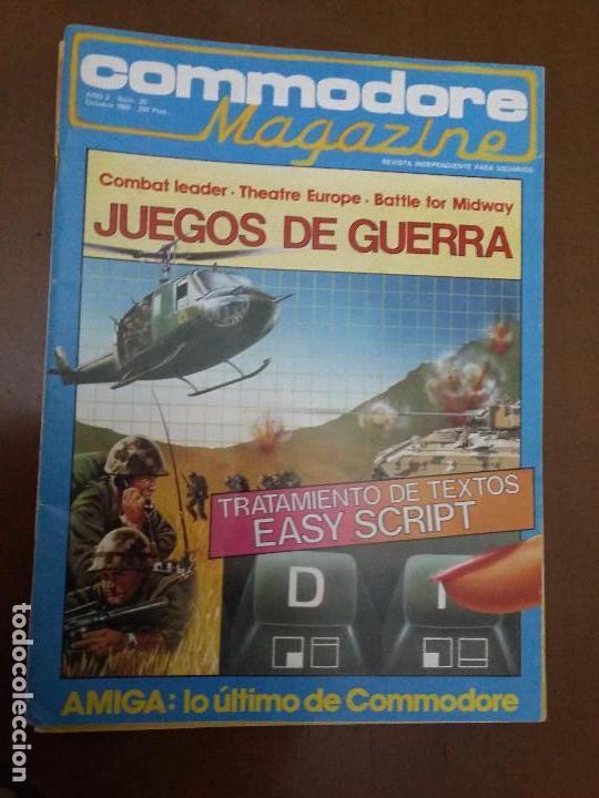 11-00244 COMMODORE MAGAZINE AÑO 2- Nº 20 - OCTUBRE 1985 (Juguetes - Videojuegos y Consolas - Commodore)