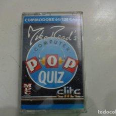 Videojuegos y Consolas: JUEGO 'MIKE READ'S COMPUTER POP QUIZ' COMMODORE. Lote 135368494