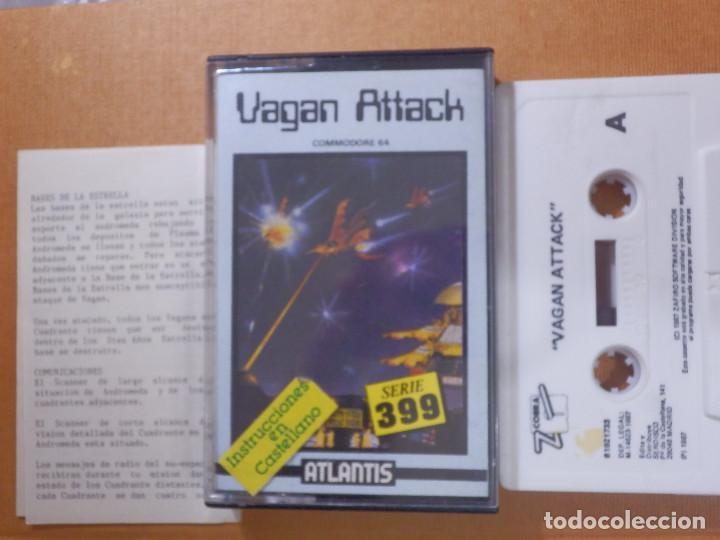 JUEGO EN CINTA DE CASSETTE PARA CONSOLA - COMMODORE 64 - VAGAN ATTACK SERIE 399 - ATLANTIS (Juguetes - Videojuegos y Consolas - Commodore)
