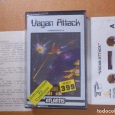 Videojuegos y Consolas: JUEGO EN CINTA DE CASSETTE PARA CONSOLA - COMMODORE 64 - VAGAN ATTACK SERIE 399 - ATLANTIS . Lote 139249214