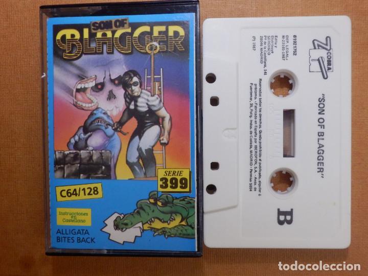 JUEGO EN CINTA DE CASSETTE PARA CONSOLA - COMMODORE 64 128 - SON OF BLAGGE - SERIE 399 - ALLIGATA (Juguetes - Videojuegos y Consolas - Commodore)