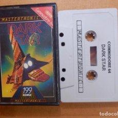 Videojuegos y Consolas: JUEGO EN CINTA DE CASSETTE PARA CONSOLA - COMMODORE 64 - DARK STAR - MASTERTRONIC - 199 RANGE - 1984. Lote 139249450