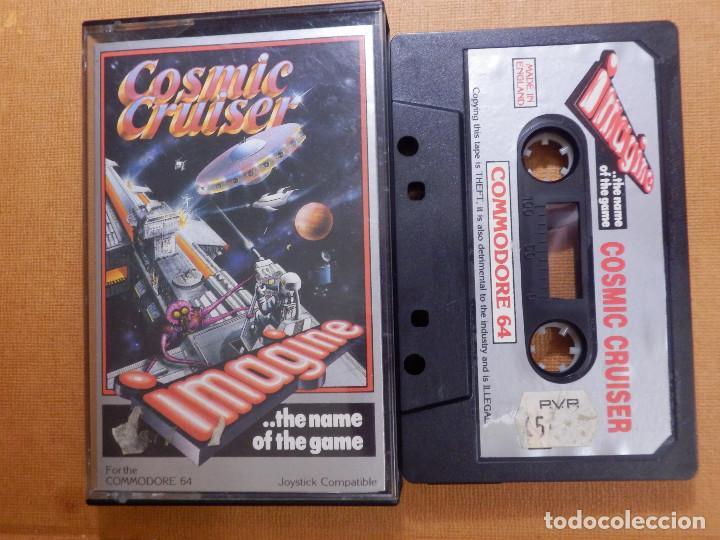 JUEGO EN CINTA DE CASSETTE PARA CONSOLA - COMMODORE 64 - COSMIC CRUISER - IMAGINE (Juguetes - Videojuegos y Consolas - Commodore)