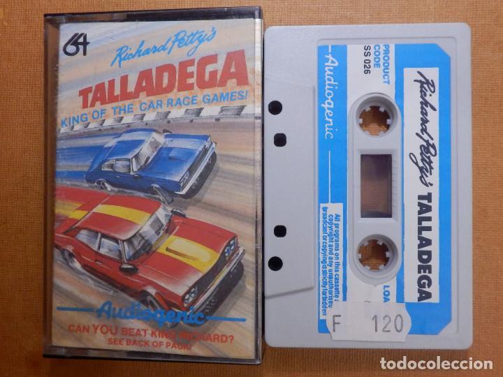 JUEGO EN CINTA DE CASSETTE PARA CONSOLA - COMMODORE 64 - TALLADEGA, RICHARD PETTYS - AUDIOGENIC 1985 (Juguetes - Videojuegos y Consolas - Commodore)