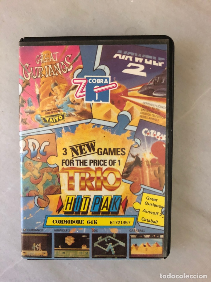 TRIO HIT PAK C64 COMMODORE 64 EDICIÓN ZAFIRO SOFTWARE (Juguetes - Videojuegos y Consolas - Commodore)