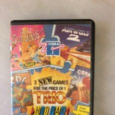 Videojuegos y Consolas: TRIO HIT PAK C64 COMMODORE 64 EDICIÓN ZAFIRO SOFTWARE. Lote 143406970