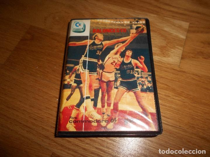 JUEGO BALONCESTO PARA COMMODORE 64.EDICIÓN ESPAÑOLA AÑOS 80 ESTUCHE GRANDE (Juguetes - Videojuegos y Consolas - Commodore)