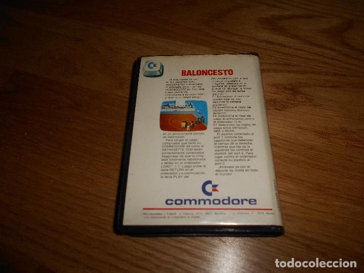 Videojuegos y Consolas: Juego Baloncesto para Commodore 64.Edición española años 80 ESTUCHE GRANDE - Foto 3 - 144370082