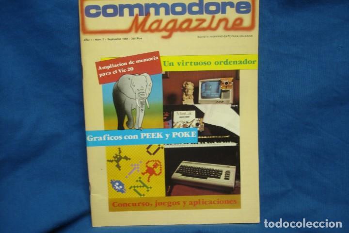 -COMMODORE MAGAZINE Nº 7 - SEPTIEMBRE 1984 (Juguetes - Videojuegos y Consolas - Commodore)