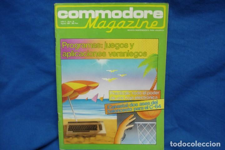 -COMMODORE MAGAZINE Nº 18 - AGOSTO 1985 (Juguetes - Videojuegos y Consolas - Commodore)