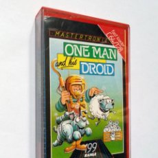 Videojogos e Consolas: ONE MAN AND HIS DROID   CASSETTE COMMODORE 64   MASTERTRONIC 1985. Lote 150510870