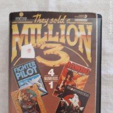 Videojuegos y Consolas: CASSETTE DOBLE JUEGO THEY SOLD A MILLION 3 COMMODORE. Lote 151357570