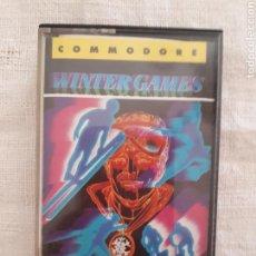 Videojuegos y Consolas: CASSETTE JUEGO WINTER GAMES COMMODORE 64/128. Lote 151358490
