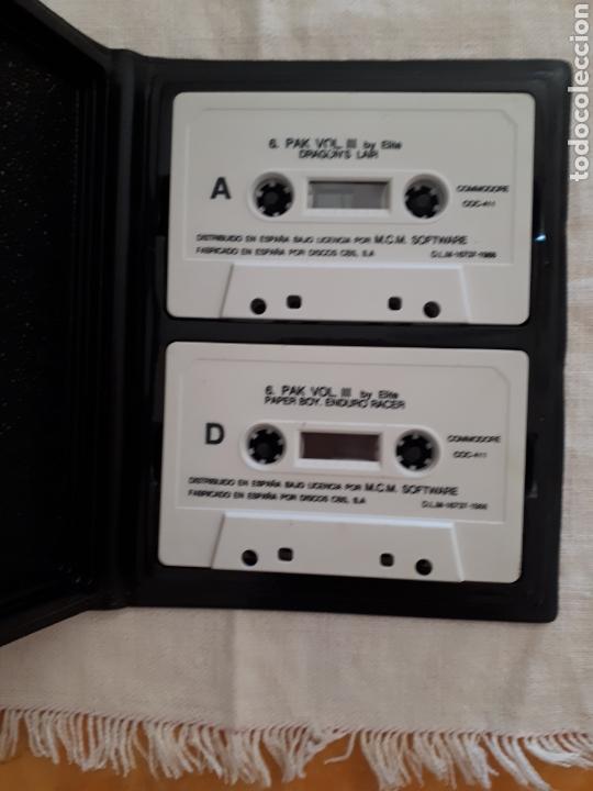 Videojuegos y Consolas: Cassette doble juego 6 Pak Commodore - Foto 2 - 151359146