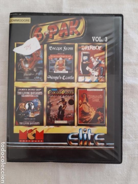 CASSETTE DOBLE JUEGO 6 PAK COMMODORE (Juguetes - Videojuegos y Consolas - Commodore)