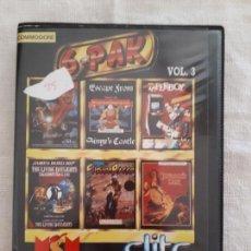 Videojuegos y Consolas: CASSETTE DOBLE JUEGO 6 PAK COMMODORE. Lote 151359146