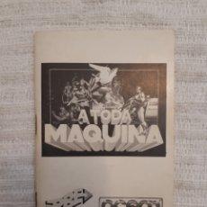 Videojuegos y Consolas: ANTIGUO MANUAL A TODA MÁQUINA. ERBE. OCEAN. 1989.. Lote 166129646