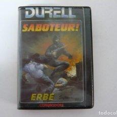 Videojuegos y Consolas: SABOTEUR - COMMODORE 64 / RETRO VINTAGE / CLÁSICO / CASSETTE. Lote 167039512