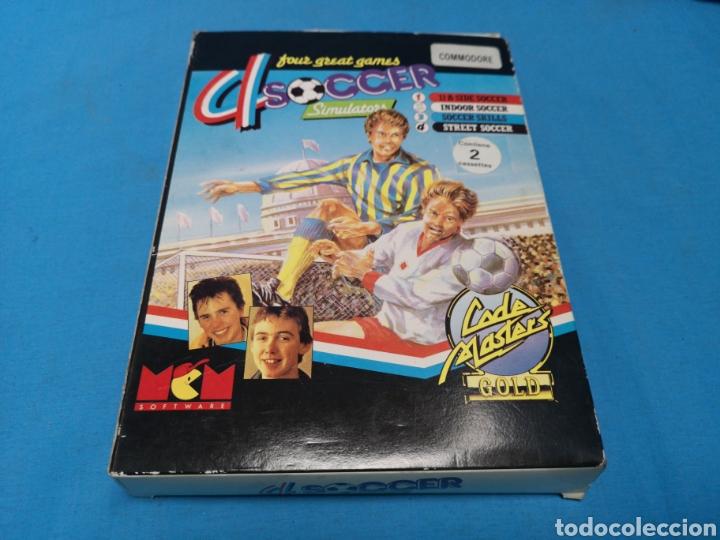 JUEGO COMMODORE 64, 4 SOCCER SIMULATORS BY CODE MASTER (Juguetes - Videojuegos y Consolas - Commodore)