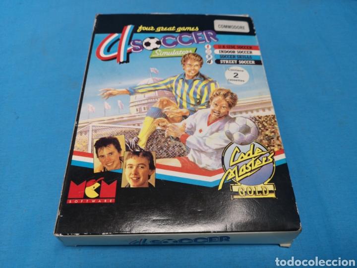 Videojuegos y Consolas: Juego Commodore 64, 4 soccer simulators by code master - Foto 2 - 167912252