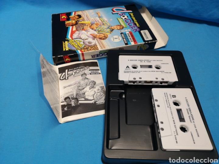 Videojuegos y Consolas: Juego Commodore 64, 4 soccer simulators by code master - Foto 3 - 167912252