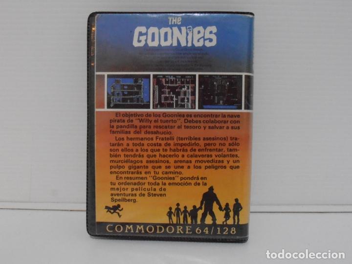 Videojuegos y Consolas: JUEGO COMMODORE 64, ESTUCHE RIGIDO, THE GOONIES, US GOLD, STEVEN SPIELBERG - Foto 3 - 167976076