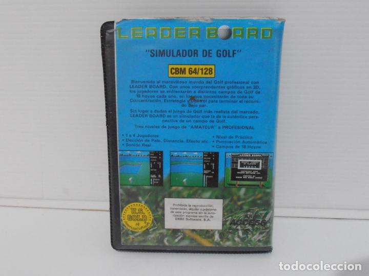 Videojuegos y Consolas: JUEGO COMMODORE 64, ESTUCHE RIGIDO, LEADER BOARD, SIMULADOR DE GOLF, US GOLD - Foto 3 - 167976252