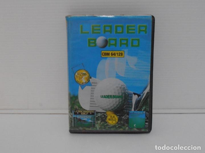 JUEGO COMMODORE 64, ESTUCHE RIGIDO, LEADER BOARD, SIMULADOR DE GOLF, US GOLD (Juguetes - Videojuegos y Consolas - Commodore)