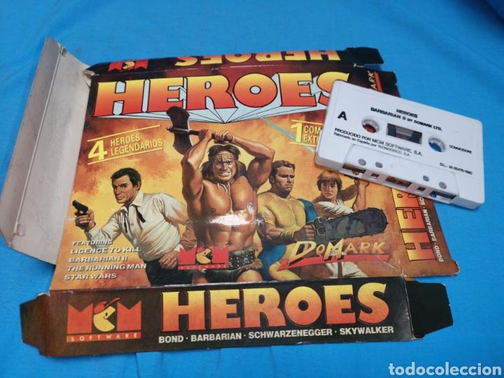 Videojuegos y Consolas: Juego Commodore 64, heroes barbarian II by domark Ltd - Foto 2 - 168023538