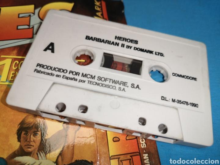 Videojuegos y Consolas: Juego Commodore 64, heroes barbarian II by domark Ltd - Foto 3 - 168023538