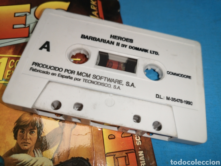 Videojuegos y Consolas: Juego Commodore 64, heroes barbarian II by domark Ltd - Foto 4 - 168023538