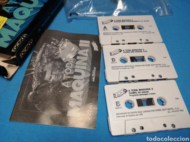 Videojuegos y Consolas: Juego Commodore 64, a toda máquina 2, by ocean, 3 cintas con manual - Foto 4 - 168025274