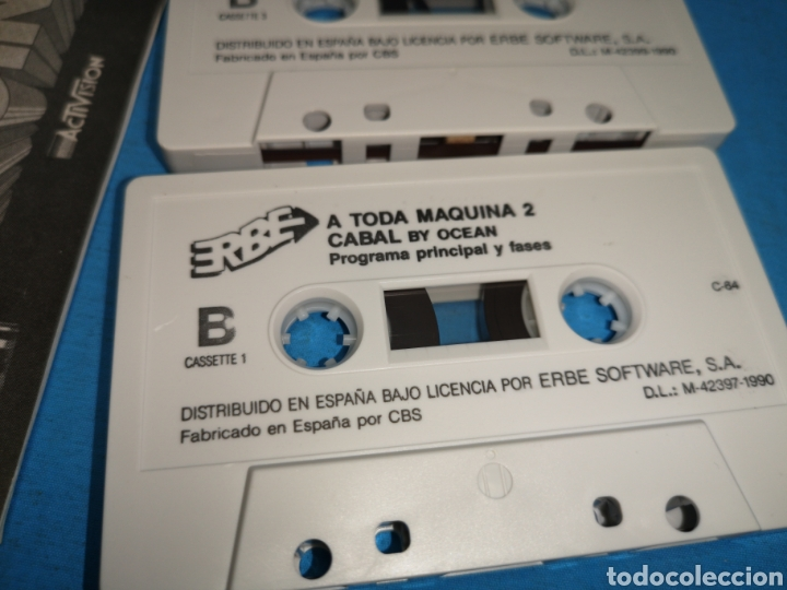Videojuegos y Consolas: Juego Commodore 64, a toda máquina 2, by ocean, 3 cintas con manual - Foto 5 - 168025274