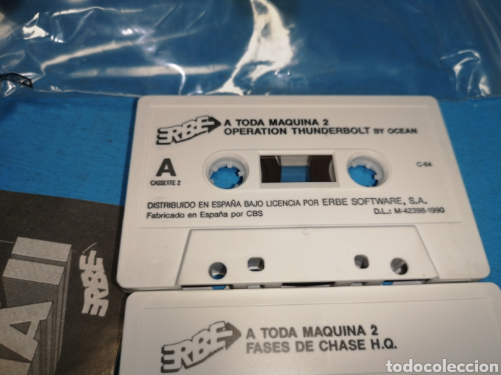 Videojuegos y Consolas: Juego Commodore 64, a toda máquina 2, by ocean, 3 cintas con manual - Foto 7 - 168025274