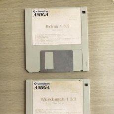Videojuegos y Consolas: COMMODORE AMIGA WORKBENCH 1.3.3 + EXTRAS 1.3.3 - 2 DISQUETES REV 34.34 1988. Lote 168260628