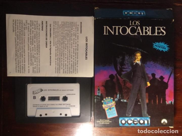 Videojuegos y Consolas: LOS INTOCABLES JUEGO + INSTRUCCIONES COMMODORE 64 - 1989 ERBE OCEAN SOFTWARE - VER FOTOS - Foto 2 - 169179208