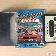 Videojuegos y Consolas: JUEGO OUT RUN - COMMODORE 64 VIDEOJUEGO CASSETTE C64. Lote 169231008