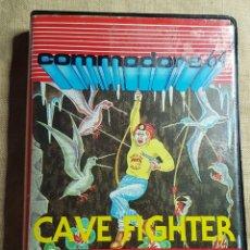 Videojuegos y Consolas: VIDEOJUEGO CINTA COMMODORE CAVE FIGHTER. Lote 181084286