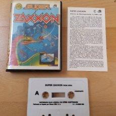 Videojuegos y Consolas: JUEGO COMMODORE SUPER ZAXXON BUEN ESTADO. Lote 182293303