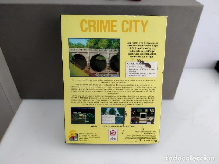 Videojuegos y Consolas: JUEGO PARA COMMODORE AMIGA CRIME CITY - Foto 2 - 182368122