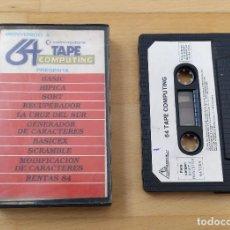Videojuegos y Consolas: JUEGO UTILIDADES COMMODRE CASSETTE 64 TAPE COMPUTING Nº4 ESTADO ACEPTABLE. Lote 184451080
